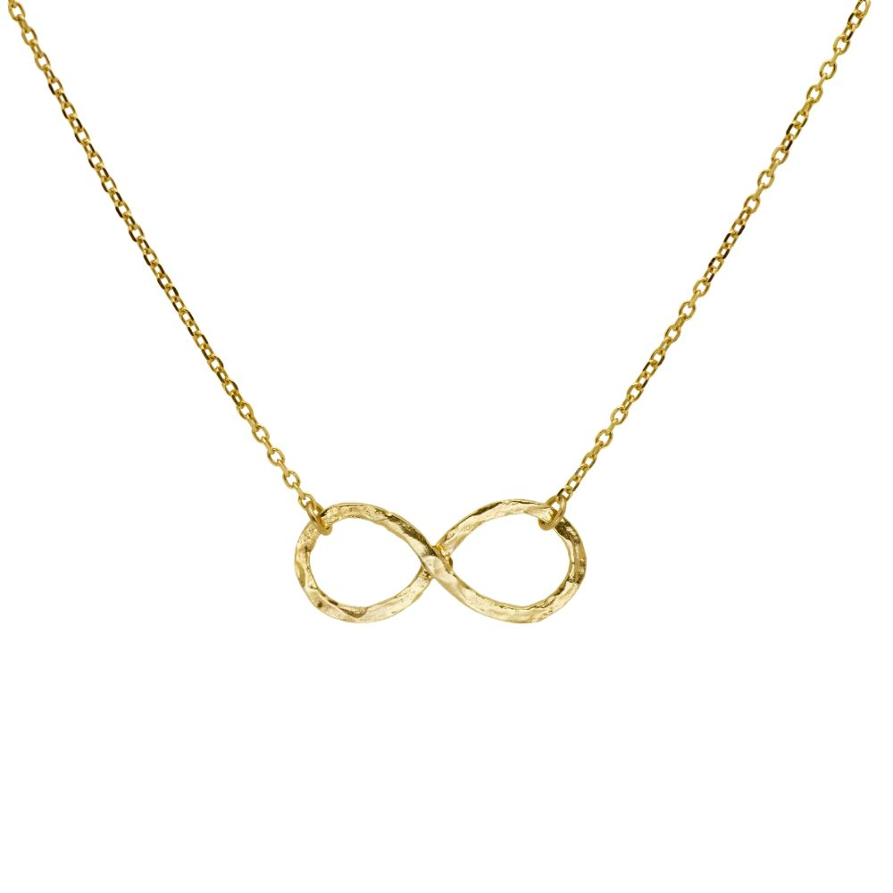 Infinity Hammered Necklace