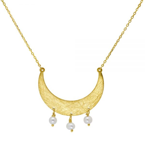 Crescent Necklace Gold Plated