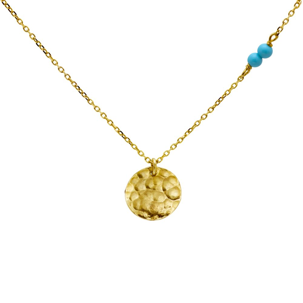 disc necklace gold plated