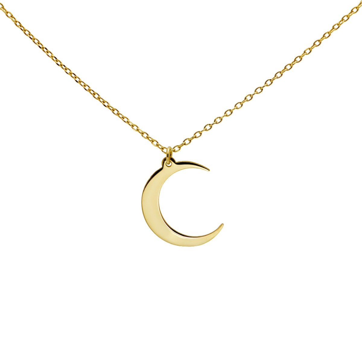Moon Crescent Necklace Gold