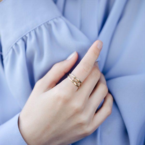 Διπλό Δαχτυλίδι Άπειρο