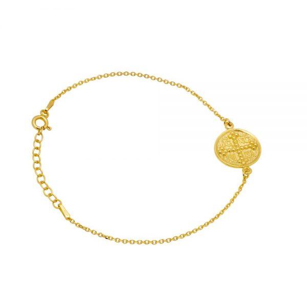 Greek Round Coin Bracelet