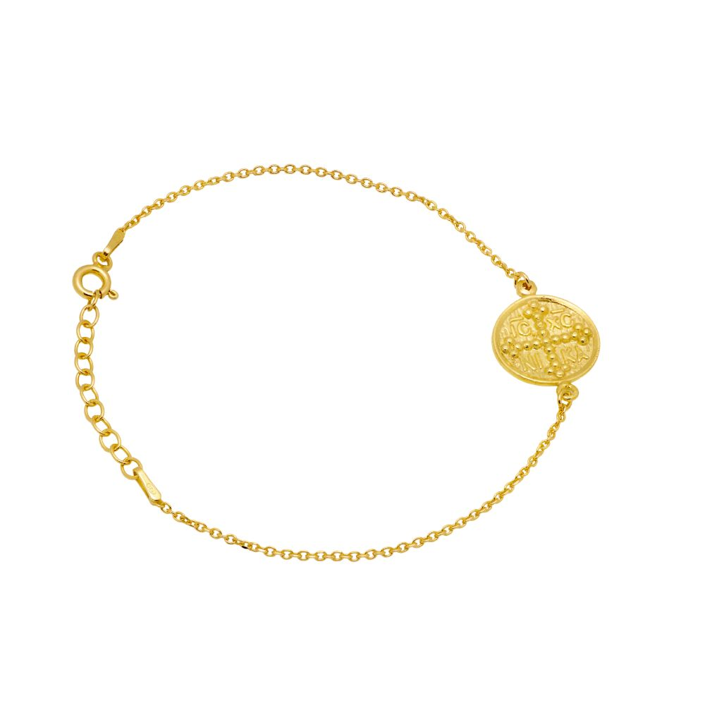 Greek Round Coin Bracelet