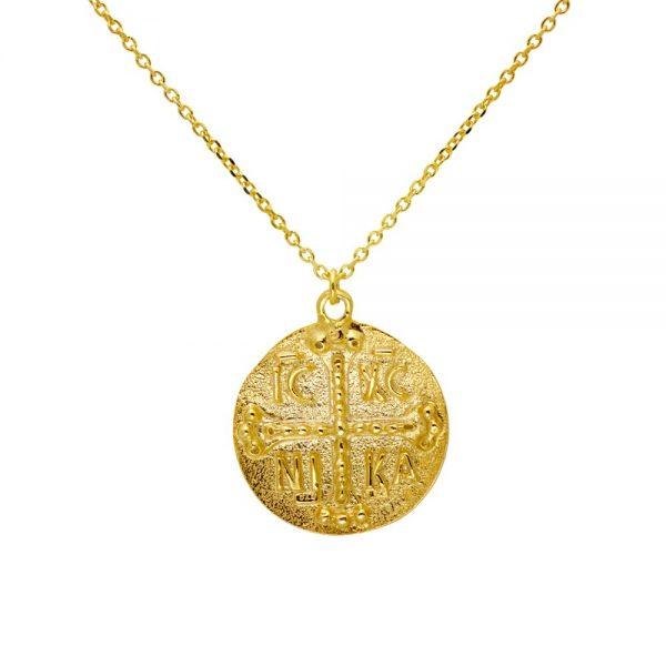 Greek Coin Round Necklace