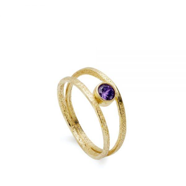 Δαχτυλίδι Διπλό με Πέτρα Γέννησης