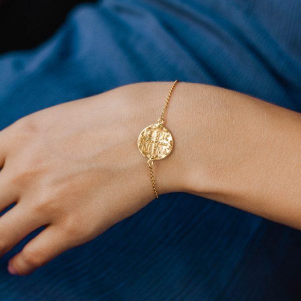 Greek Coin Bracelet