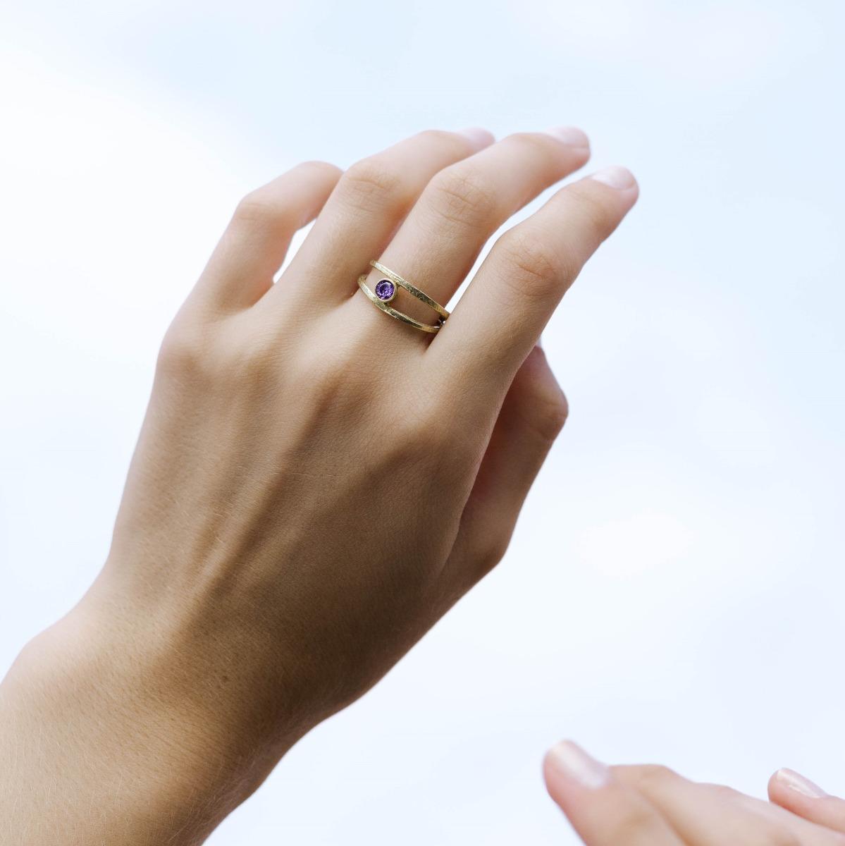 Δαχτυλίδι Διπλό με Πέτρα Γέννησης-16714