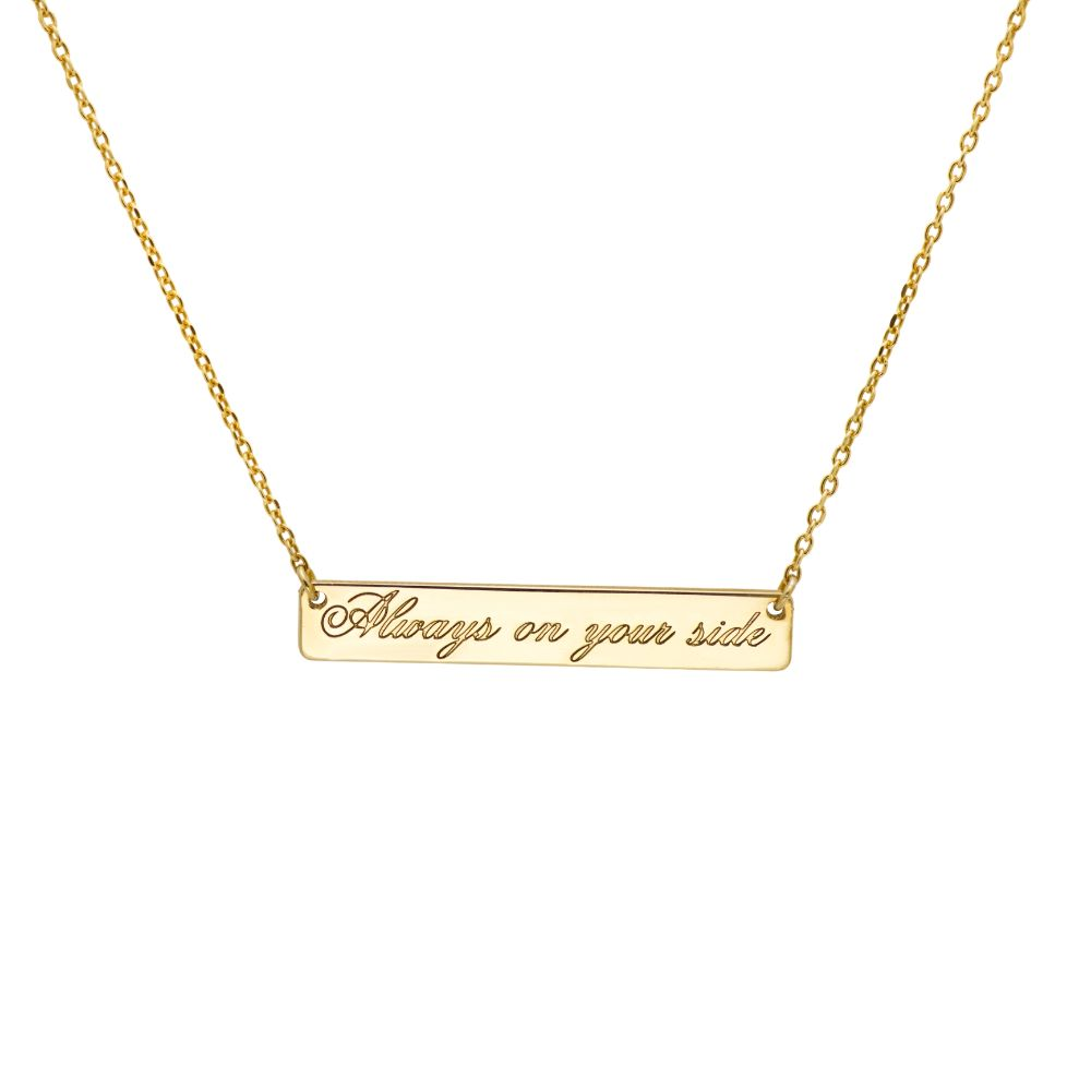 Custom Bar Necklace Gold Plated