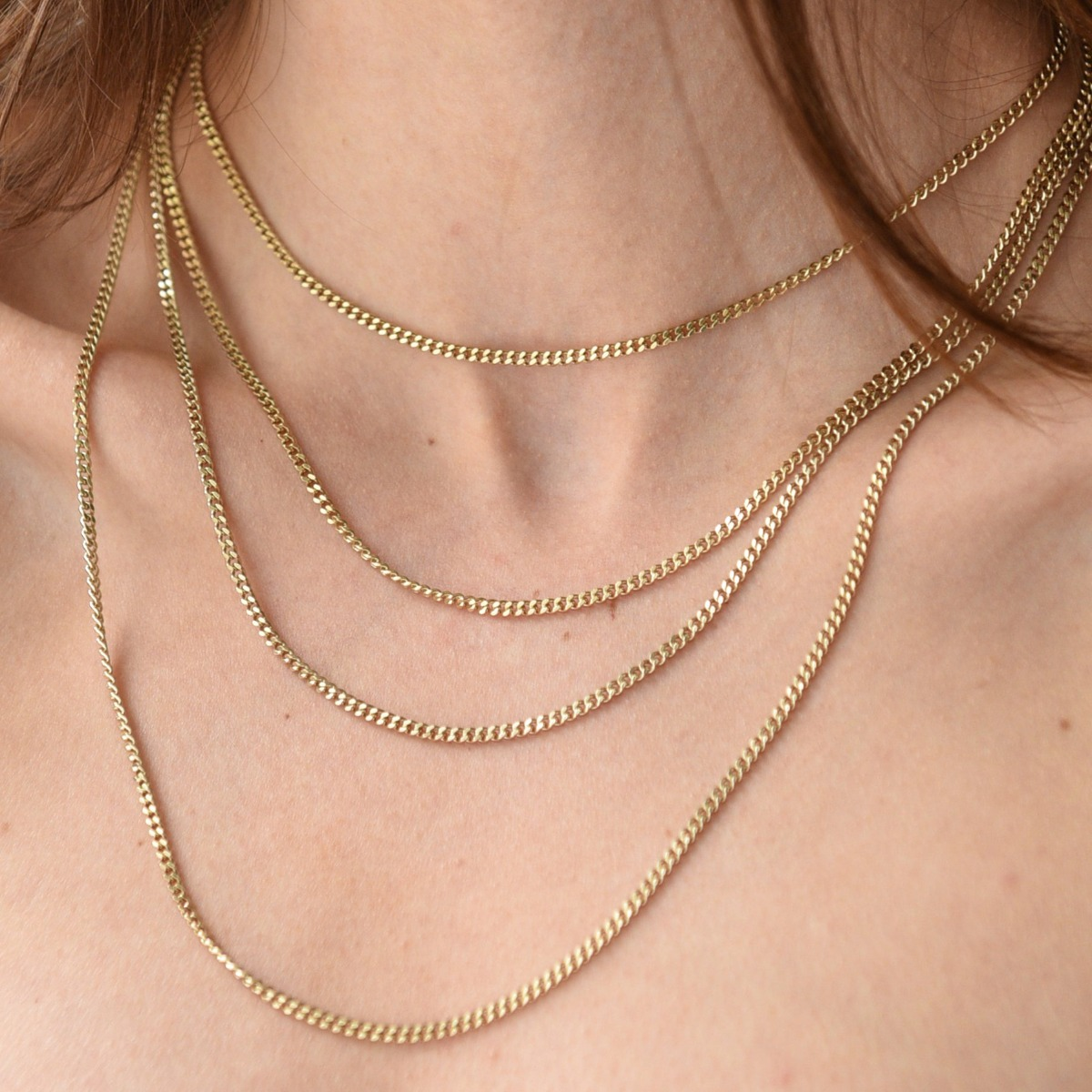 Delicate chain necklacen sterling silver