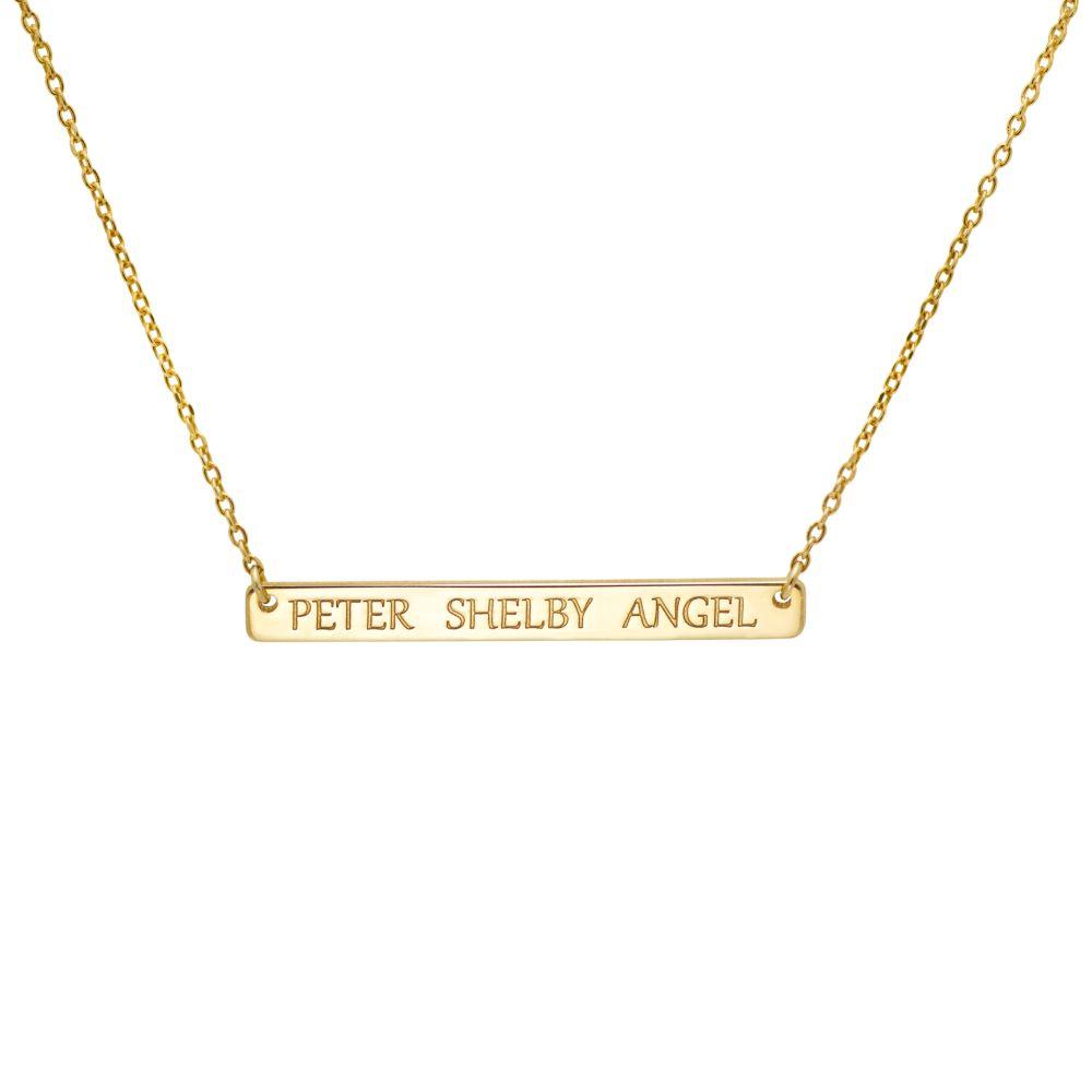 Custom Engraved Bar Necklace