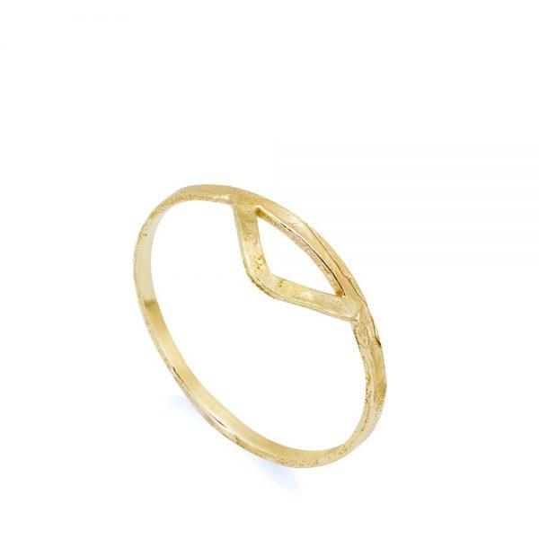 Δαχτυλίδι Μικρό Τρίγωνο Χρυσό