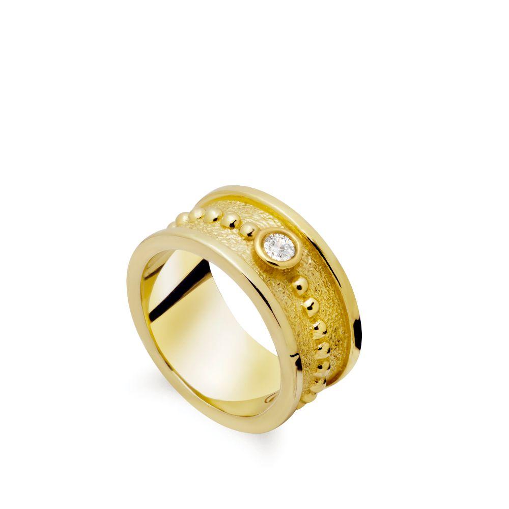 Δαχτυλίδι Μεγάλο με Πέτρα Χρυσό