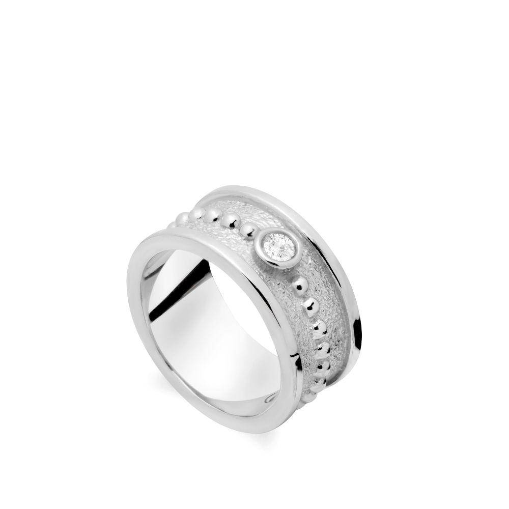 Δαχτυλίδι Μεγάλο με Πέτρα Ασήμι