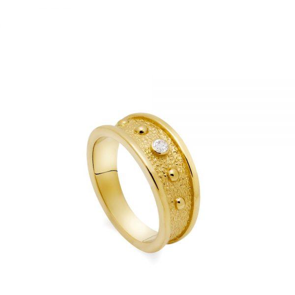 Δαχτυλίδι Φαρδύ με Ζιργκόν