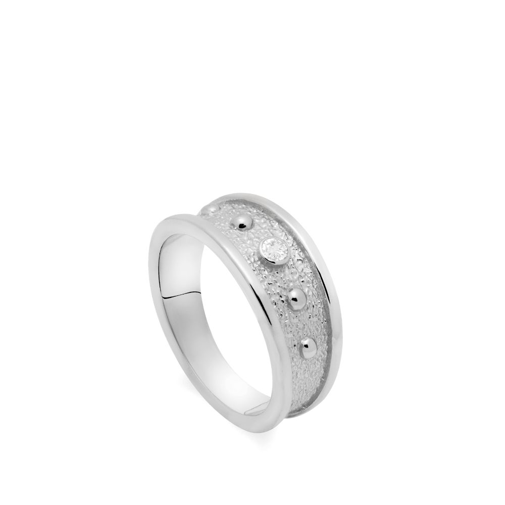 Statement Ring with CZ Silver