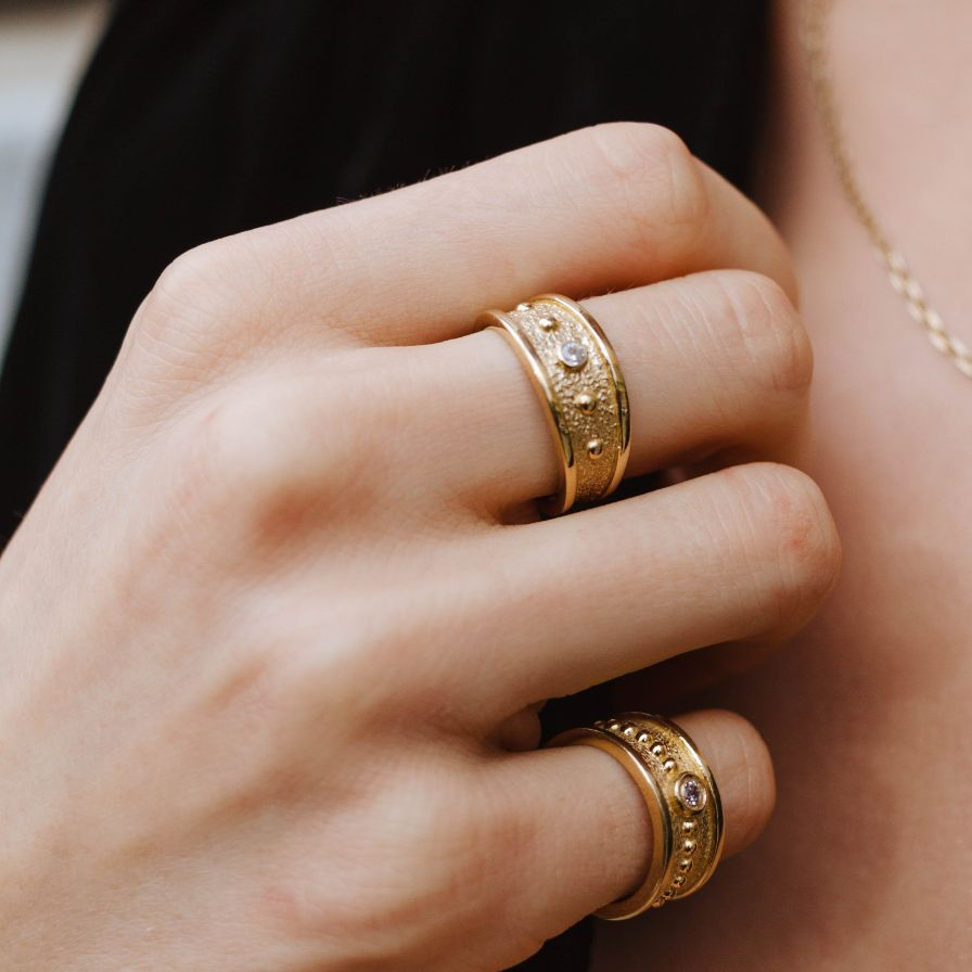 Statement Ring with CZ Gold Plated