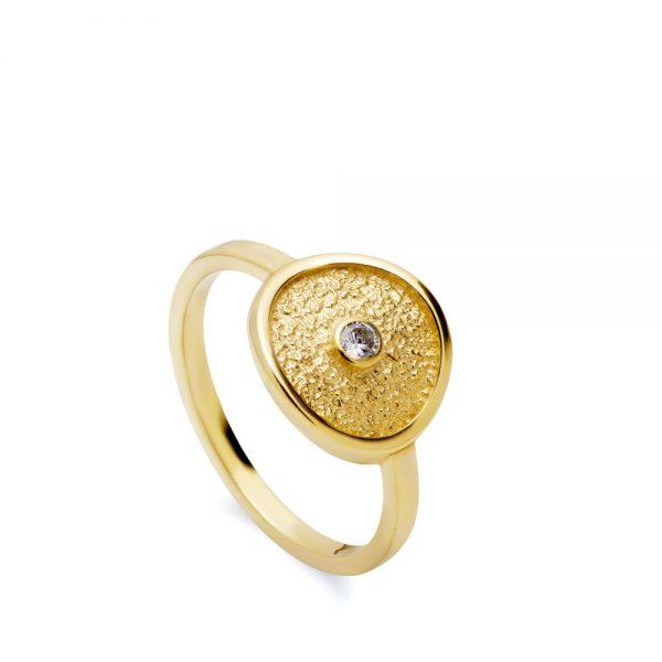 Δαχτυλίδι Δίσκος με Πέτρα-0