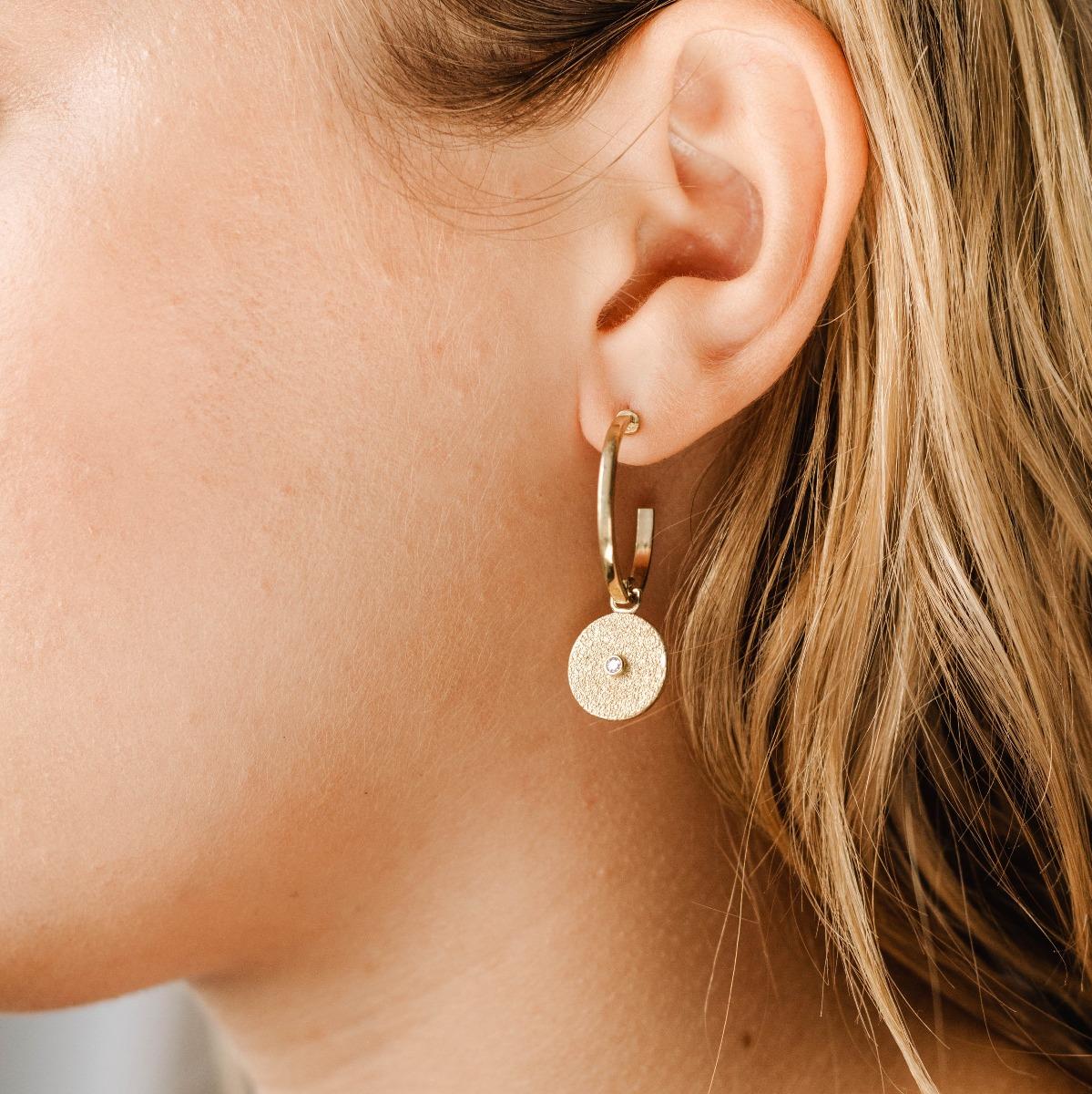 Σκουλαρίκια Κρίκοι Με Δίσκο