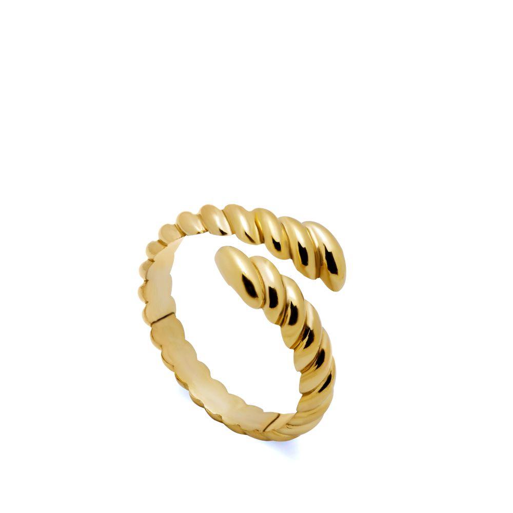 Δαχτυλίδι Twisted Ανοιχτό Χρυσό