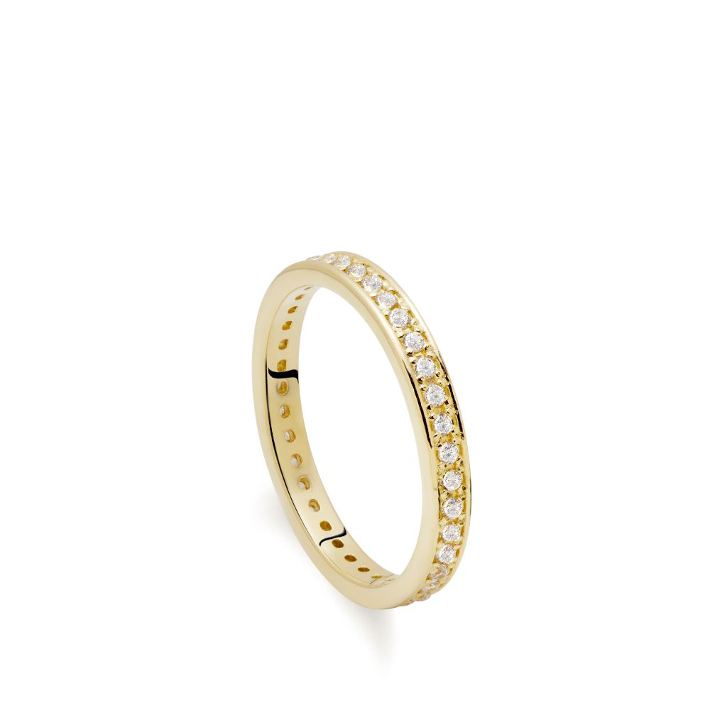 Ολόβερο Δαχτυλίδι Διαμάντια Χρυσό