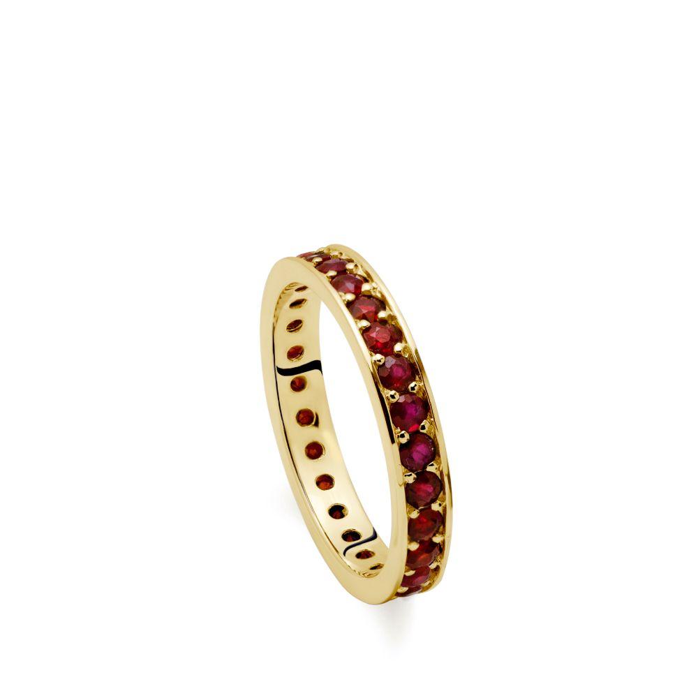 Eternity Ruby Ring Gold