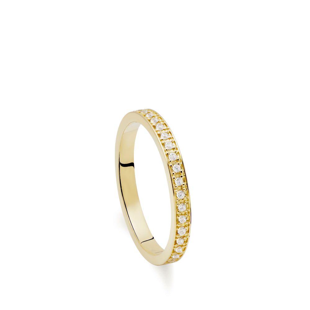 Half Eternity Diamond Ring 14K