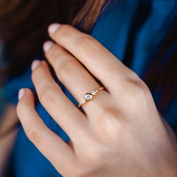 5 Diamond Engagement Ring