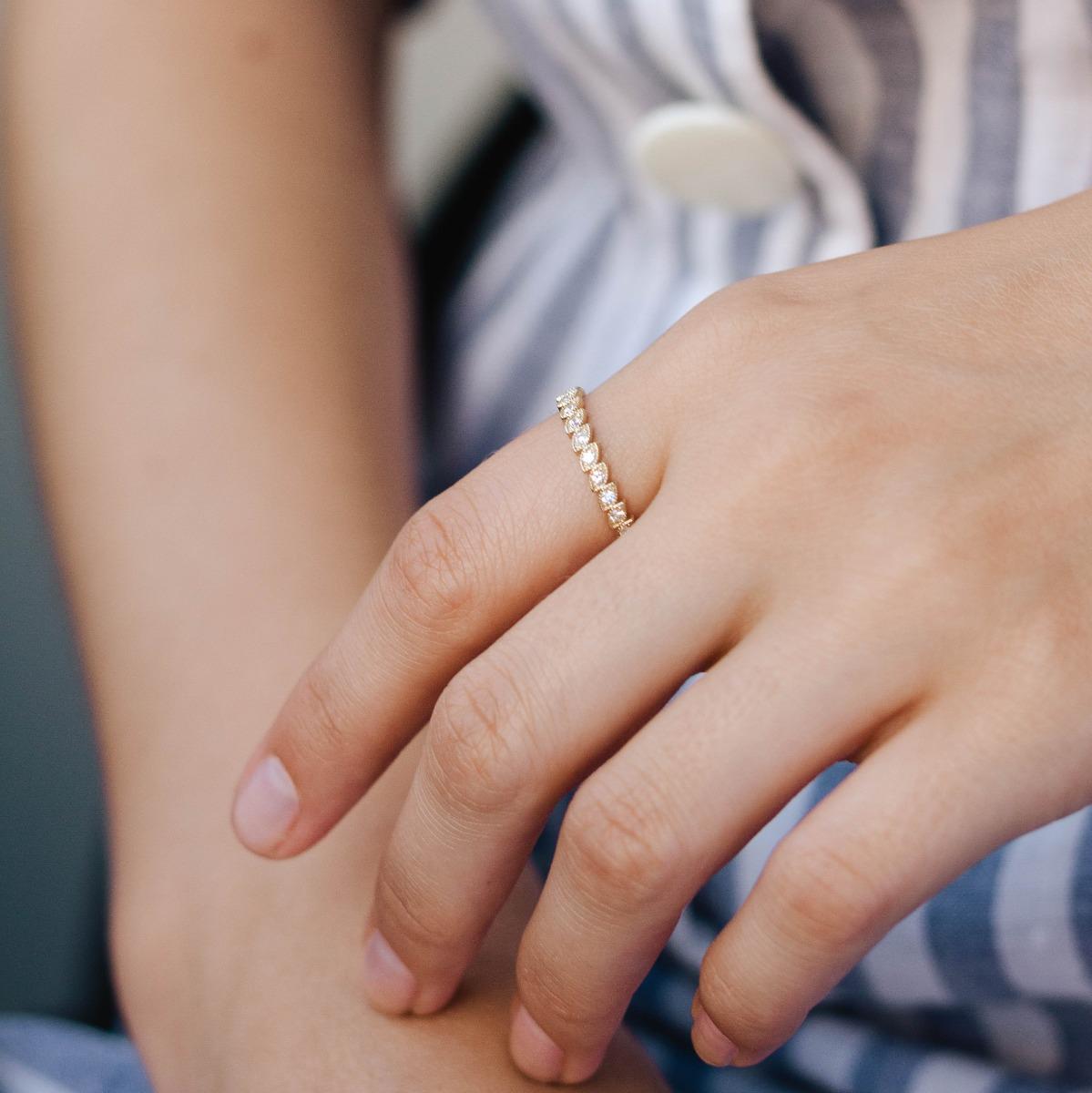 Ολόβερο Δαχτυλίδι Διαμάντια Φύλλα-16691