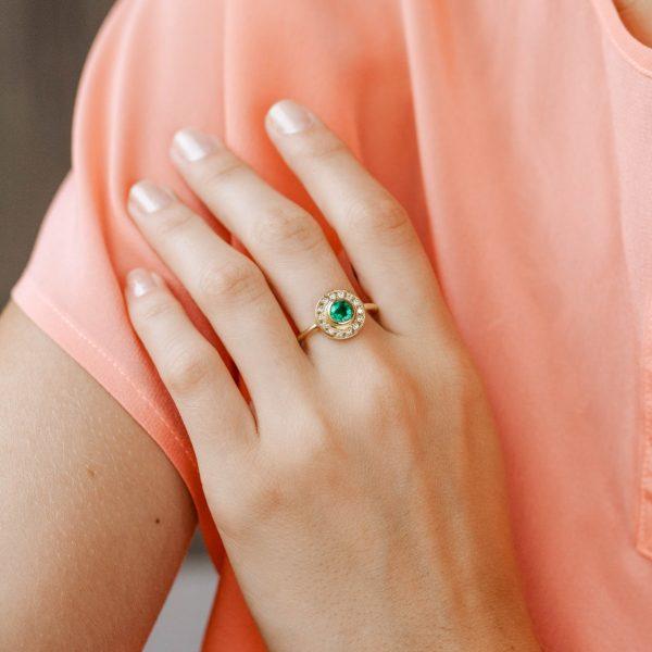 Unique Emerald Engagement Ring
