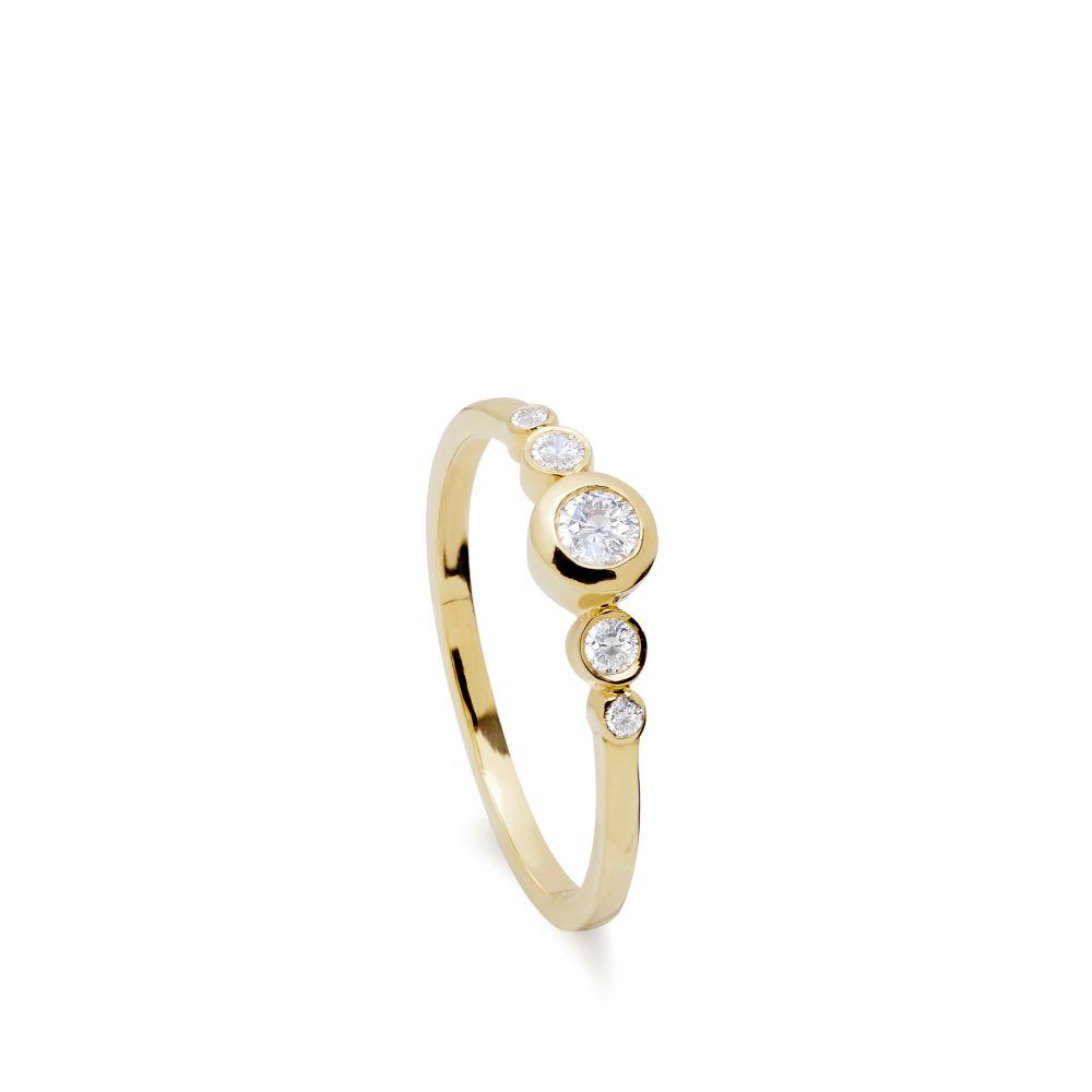 Δαχτυλίδι Χρυσό με Λευκά Διαμάντια