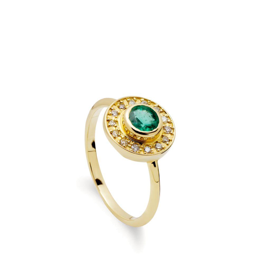 Δαχτυλίδι Αρραβώνα Σμαράγδι