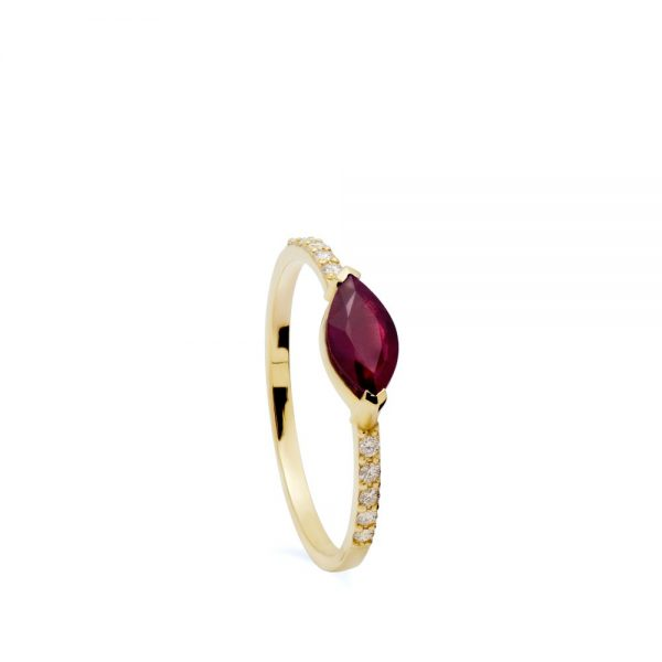 Δαχτυλίδι Μονόπετρο Ρουμπίνι