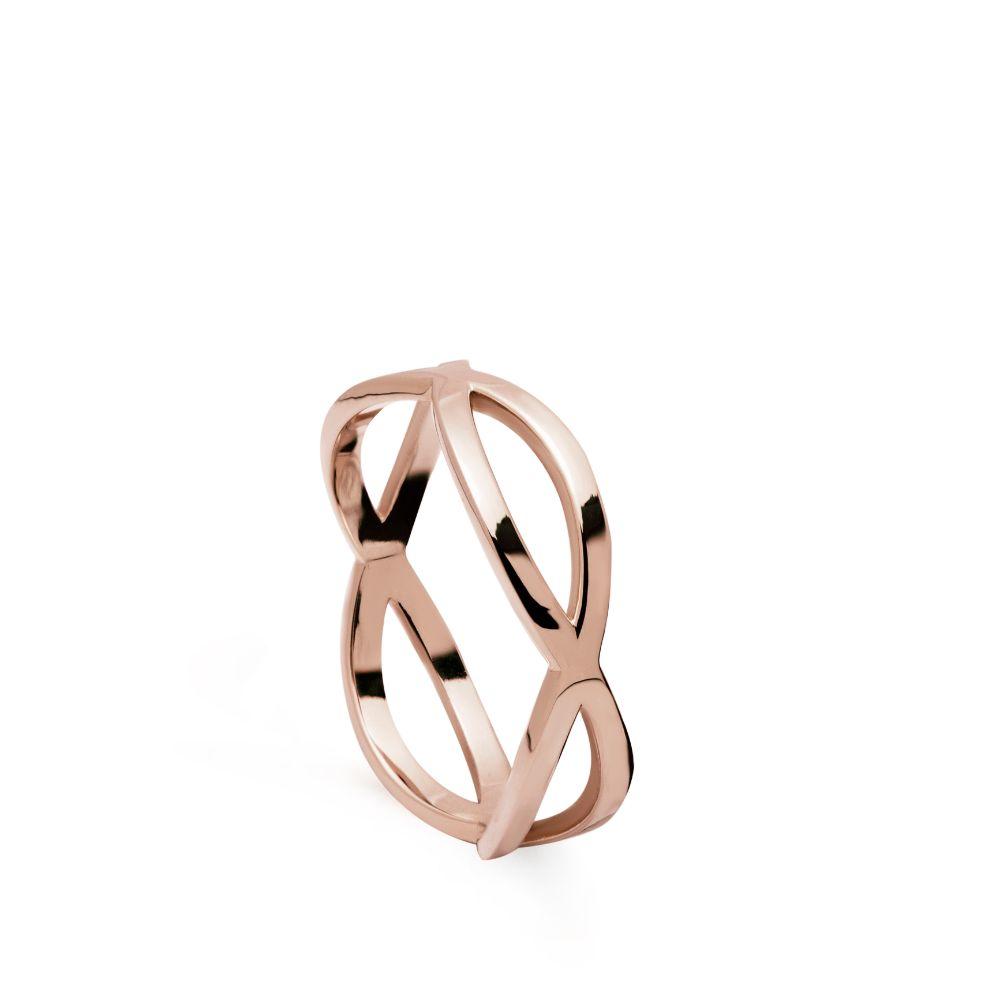 Δαχτυλίδι Crossover 14Κ Ροζ Χρυσό