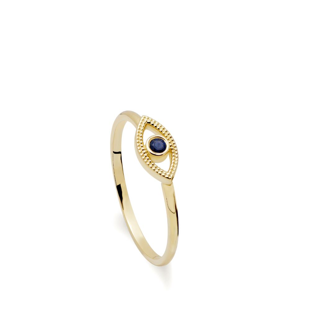 Eye Ring Blue topaz