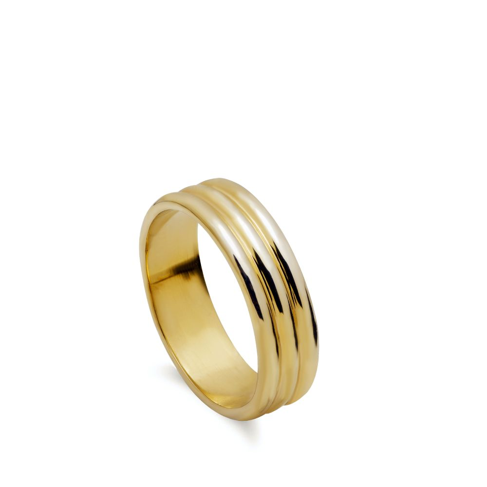 Δαχτυλίδι Τριπλό Επίχρυσο