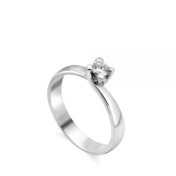 Δαχτυλίδι Αρραβώνα Διαμάντι 18Κ Λευκόχρυσο 0.20ct