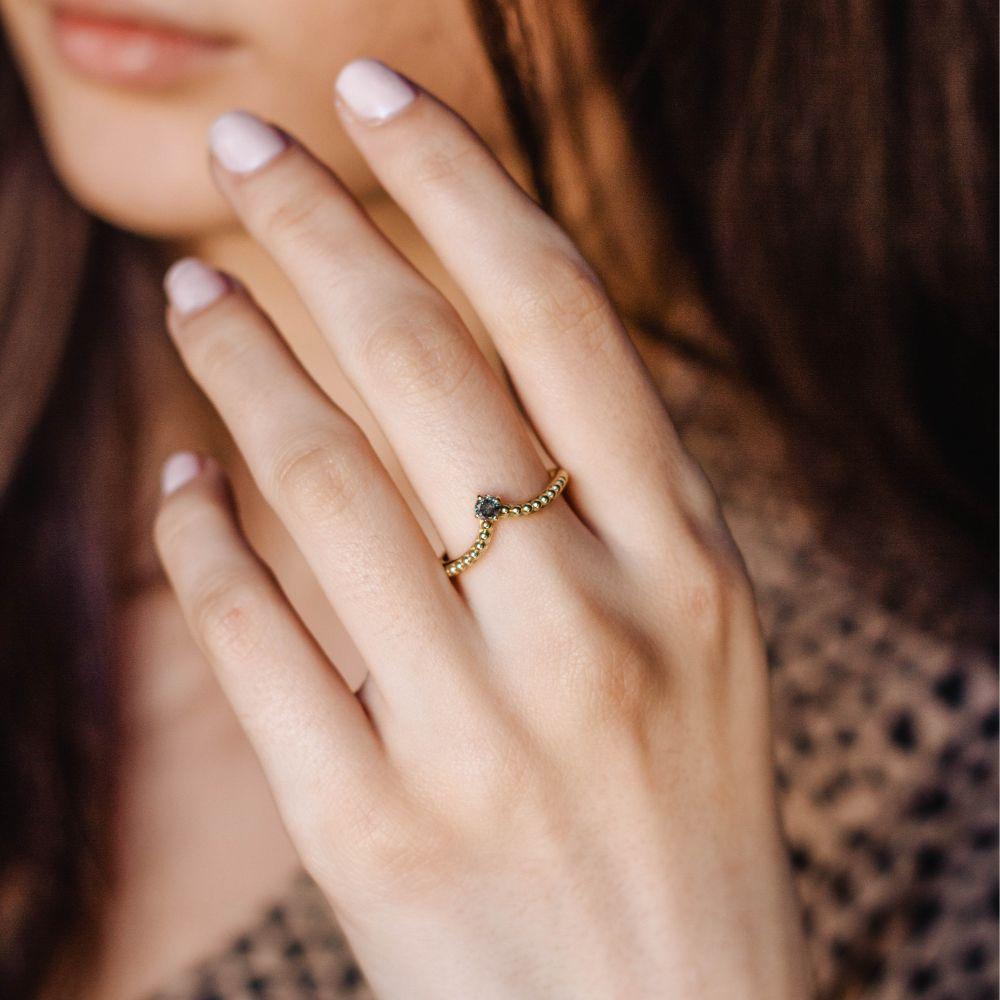 Δαχτυλίδι Γκρι Διαμάντι