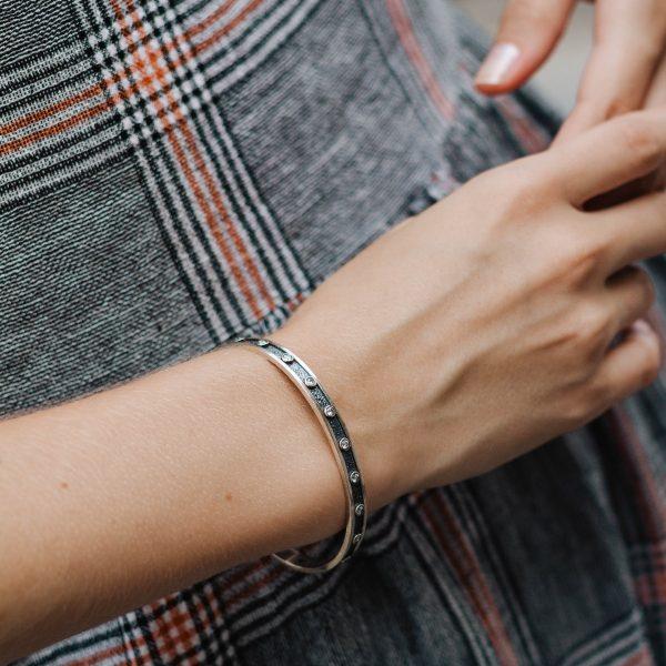 Black Oxidized Cuff Bracelet