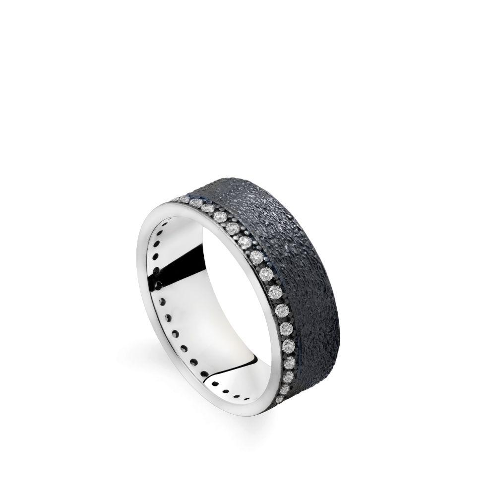 Δαχτυλίδι Ανάγλυφο Ολόβερο Οξειδωμένο Ασήμι