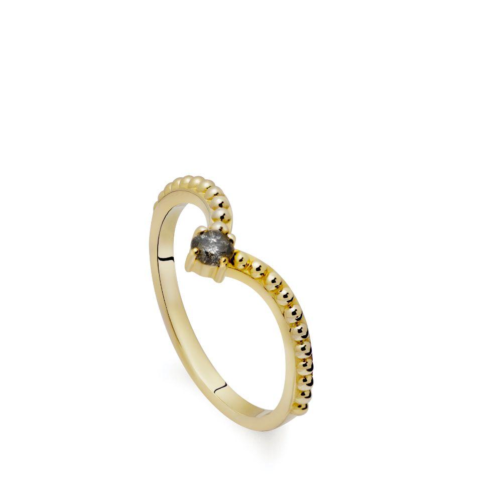 Δαχτυλίδι V Γκρι Διαμάντι