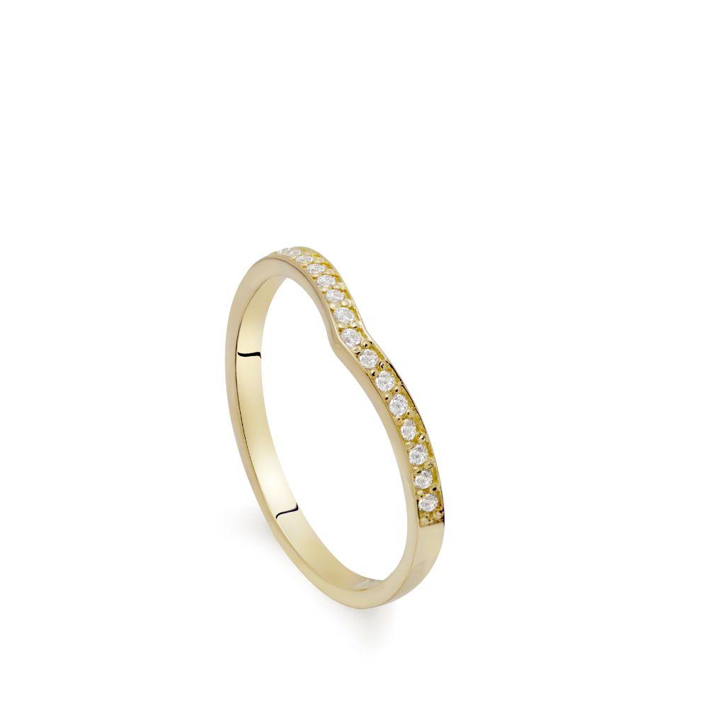 Diamond V Ring 14K Gold