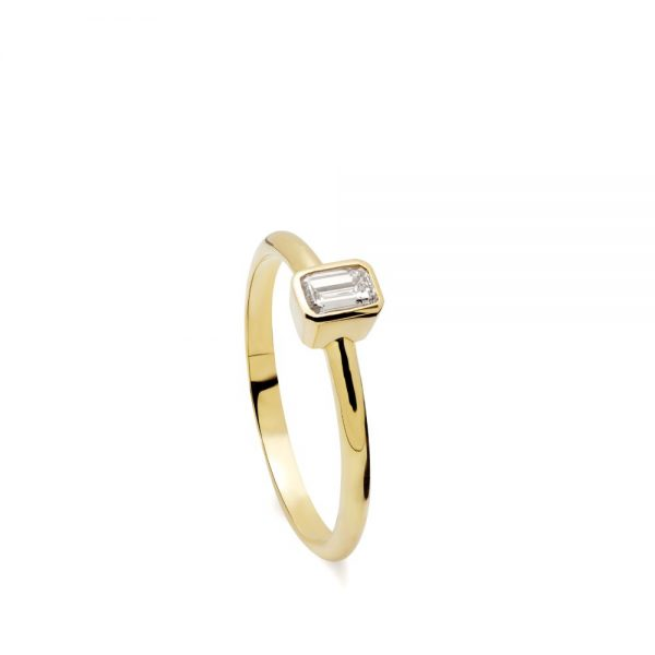 14Κ Χρυσό Μονόπετρο Διαμάντι