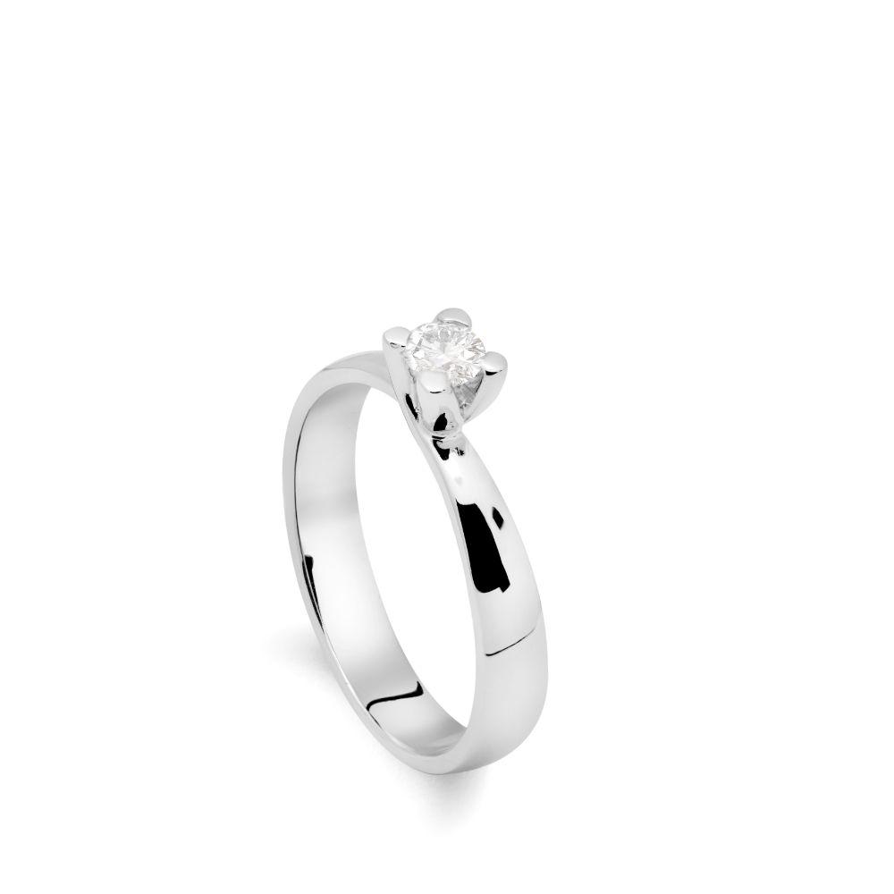 Δαχτυλίδι Αρραβώνα Διαμάντι Λευκόχρυσο 18 Καράτια