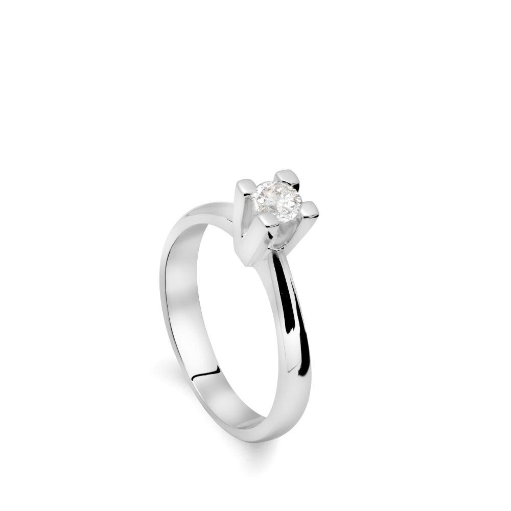 Δαχτυλίδι Διαμάντι Μονόπετρο Κλασσικό