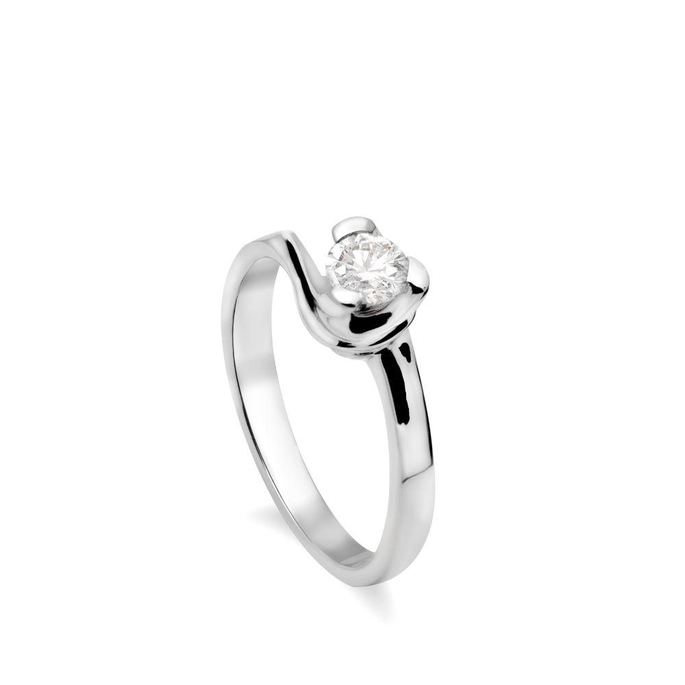 Ιδιαίτερο Δαχτυλίδι Διαμάντι Λευκόχρυσο