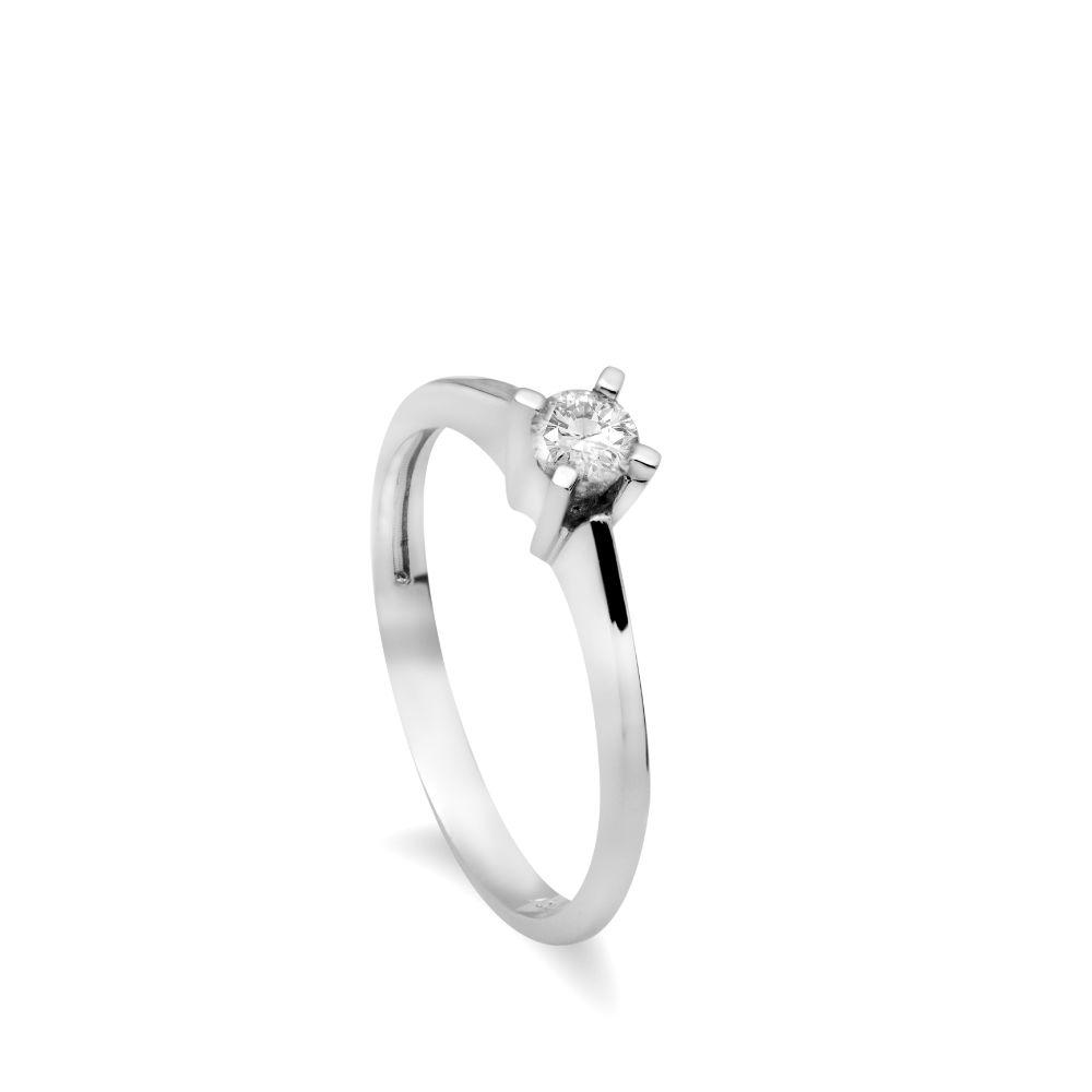 Κλασσικό Μονόπετρο Δαχτυλίδι Διαμάντι