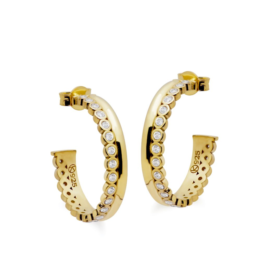 Eternity Hoops with Zircon Gold Plated