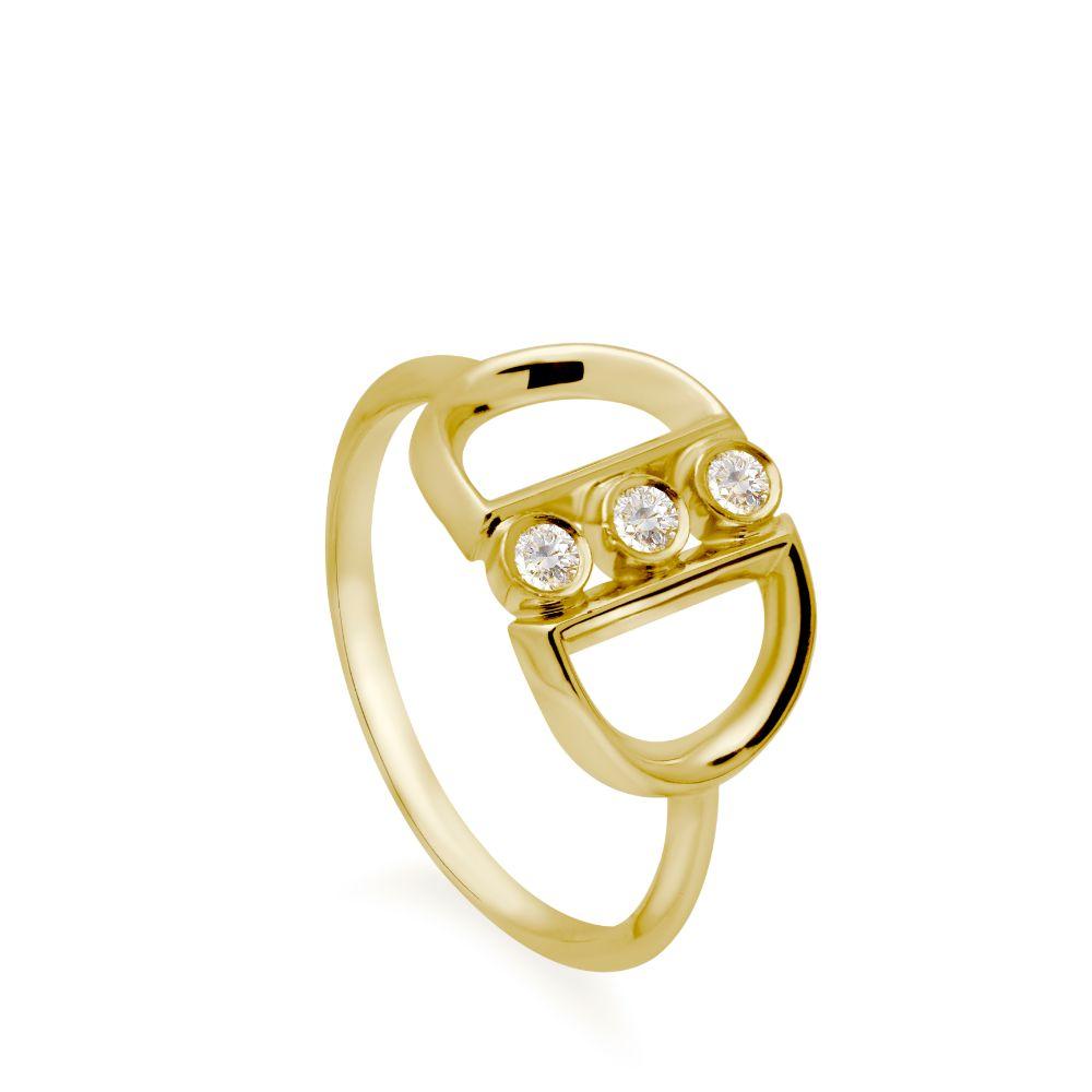 Δαχτυλίδι 3 Διαμάντια