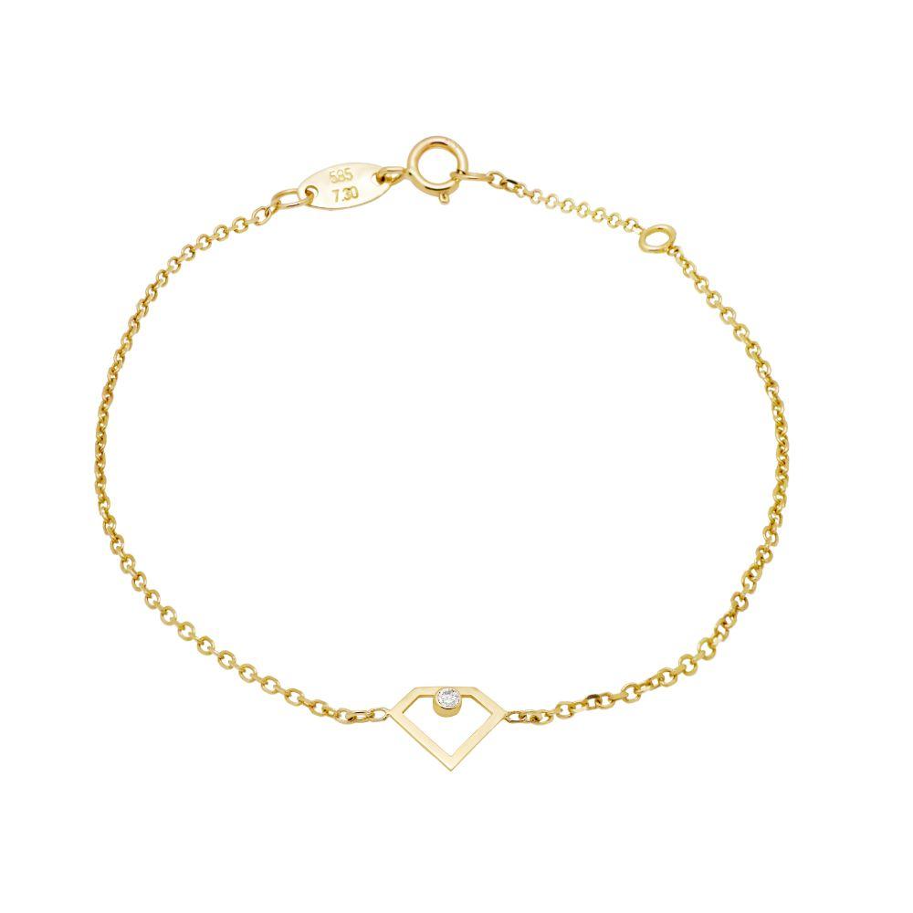 Βραχιόλι Διαμάντι 14Κ Χρυσό