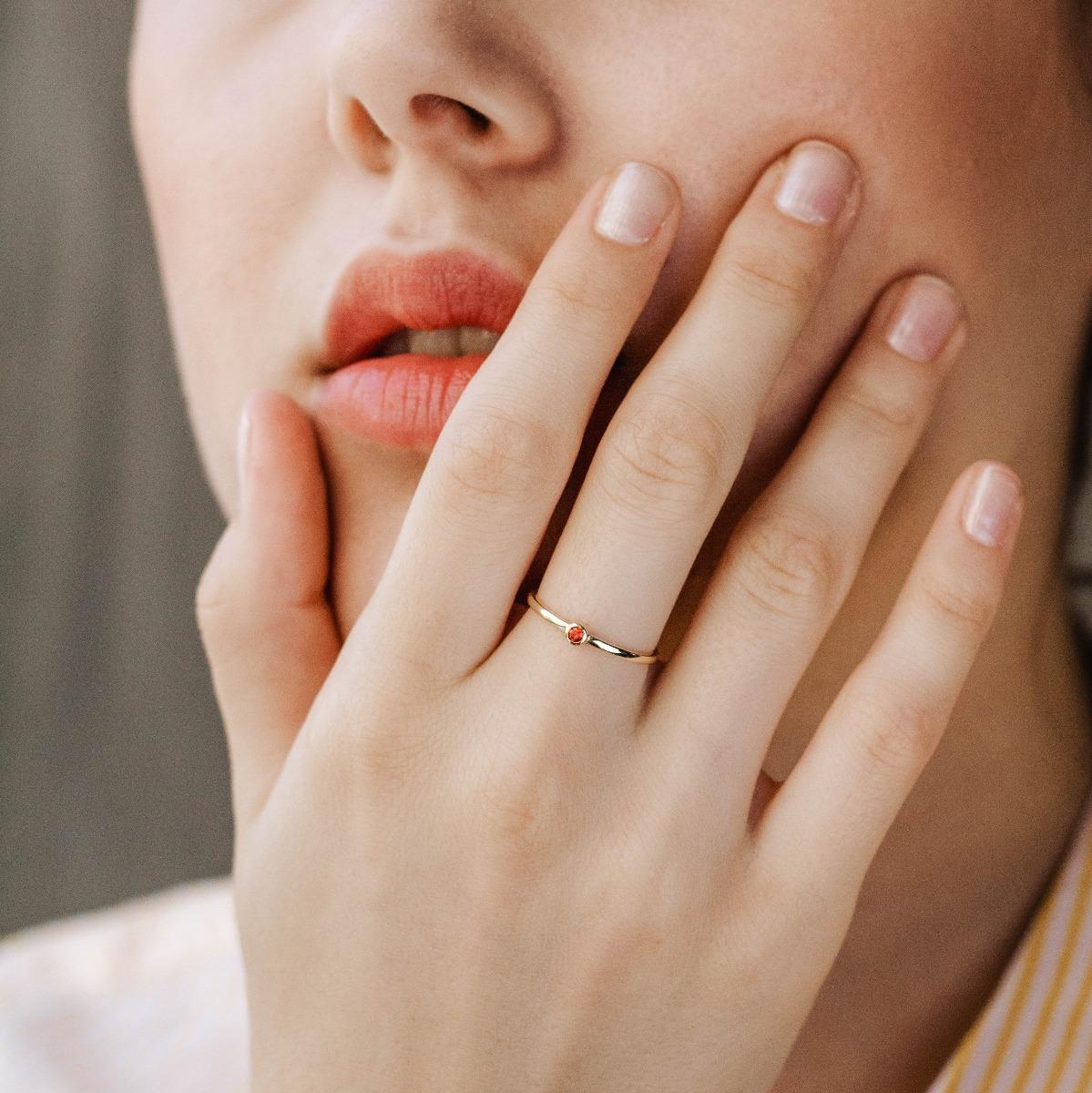 Δαχτυλίδι Πορτοκαλί Ζαφείρι-16656